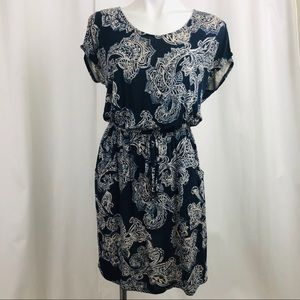 Lucky Brand Holly Flock Paisley Dress with Pockets